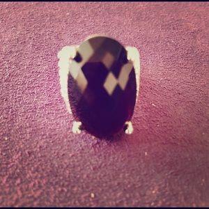 David Yurman Wheaton Black Amethyst Ring Diamonds
